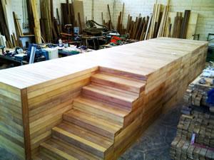 Scala Da Esterno In Legno : Rivestimenti e pavimenti in legno: piscine scale gazebo e