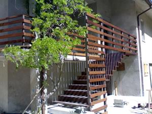 Scale in legno, scale per lesterno, scale per esterni e ...