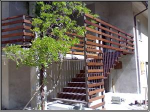 Scale in legno scale per l 39 esterno scale per esterni e interni scale di stemar - Scale ingresso esterno ...